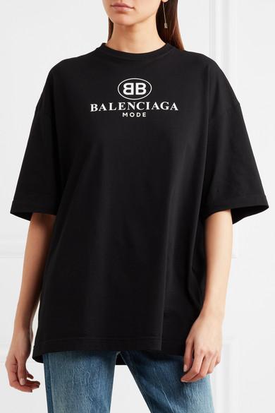 Bedrucktes oversized T-Shirt aus Baumwolle Balenciaga 3gcfPT