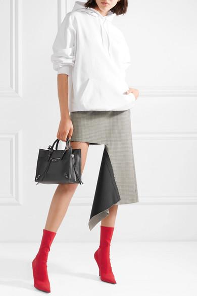 Balenciaga Tops Oversized printed cotton jersey hoodie