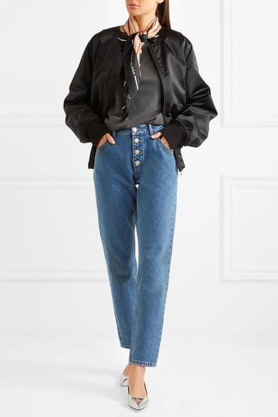 Balenciaga Bedrucktes T-Shirt aus Baumwoll-Jersey in Oversized-Passform
