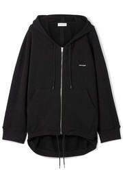 Cocoon oversized cotton-blend terry hooded top