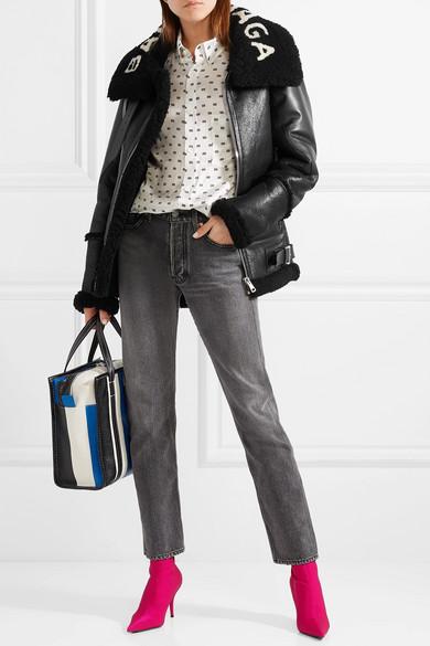 Balenciaga | Le Bombardier oversized shearling jacket | NET-A-PORTER.COM