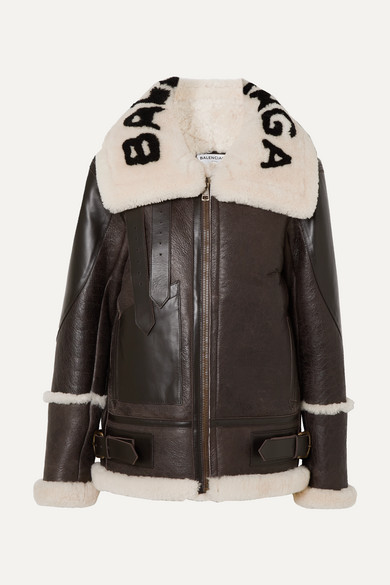 Le Bombardier Oversized Jacke Aus Shearling by Balenciaga