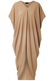 Riviera draped crepe de chine dress