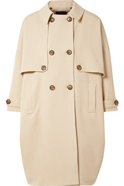Stretch-twill trench coat