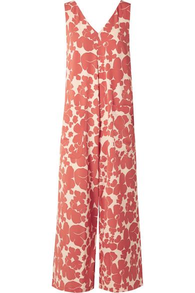 HATCH Alba floral-print crepe jumpsuit