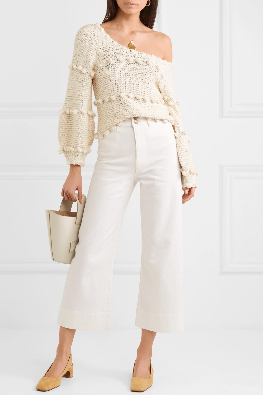 APIECE APART Merida cropped cotton-blend twill wide-leg pants