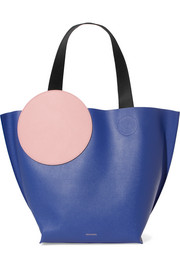 Roksanda Eider color-block textured-leather tote