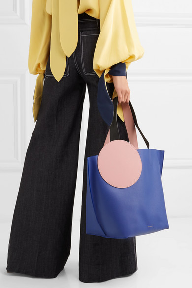Roksanda Eider Tote aus strukturiertem Leder in Colour-Block-Optik