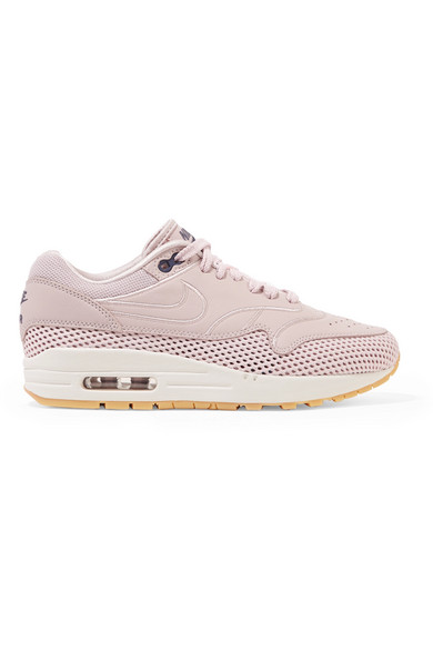 Air Max 1 Si Leather And Mesh Sneakers, Particle Rose/ Particle Rose