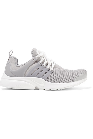 AIR PRESTO SE STRETCH-KNIT, MESH AND RUBBER SNEAKERS