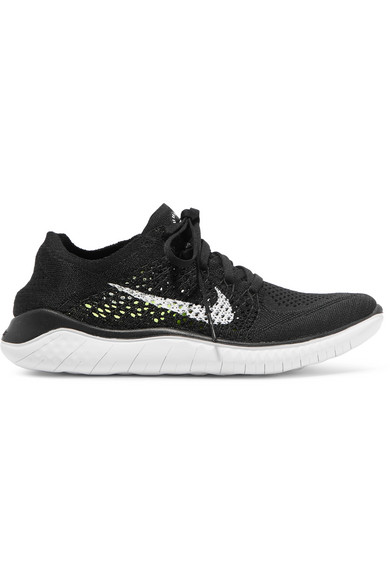 Women'S Free Rn Flyknit 2018 Running Shoes, Black