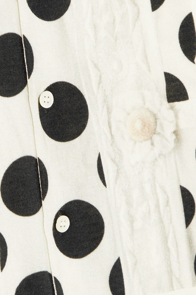 Comme des Garçons Comme des Garçons Cardigan aus Baumwolle mit Polka-Dots