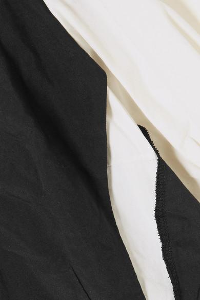 Comme des Garçons Comme des Garçons Mehrlagiges Midikleid aus glänzendem Twill und Baumwolle