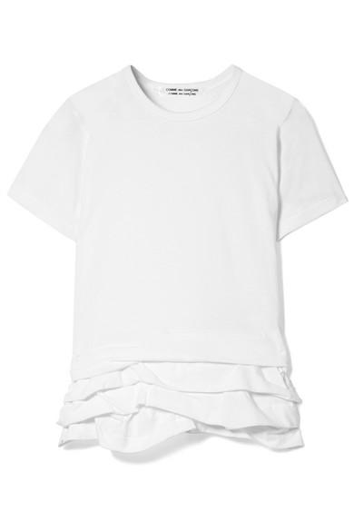 Comme des Garçons Comme des Garçons T-Shirt aus Baumwoll-Jersey mit Falten