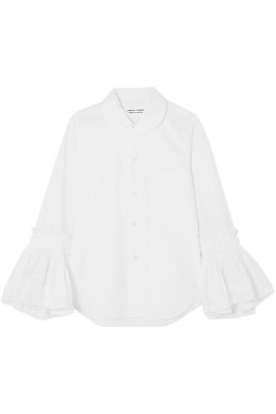 Comme des Garçons Comme des Garçons Hemd aus Baumwollpopeline mit Raffungen