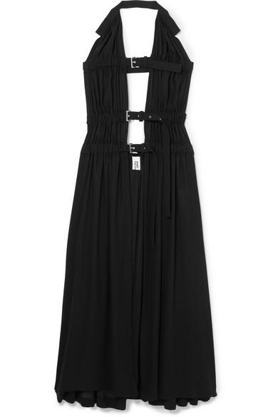Noir Kei Ninomiya Kleid aus Georgette mit Schnallenriemen