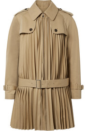 Junya Watanabe Pleated cotton-blend twill coat