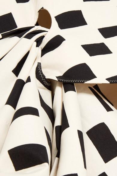 2018 Zum Verkauf Junya Watanabe + Marimekko asymmetrisches Midikleid aus bedrucktem Baumwoll-Canvas Billig 2018 Neu Bester Ort Zu Kaufen Rabatt-Websites HznF3FU