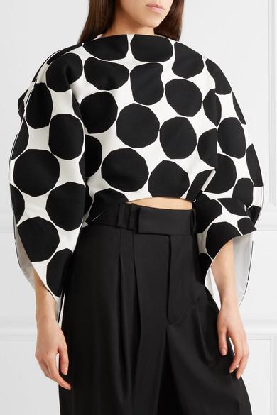 Junya Watanabe + Marimekko asymmetrisches Oberteil aus Baumwoll-Canvas mit Polka-Dots