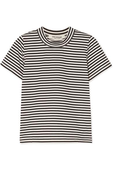 Junya Watanabe T-Shirt aus Baumwoll-Jersey mit Streifen