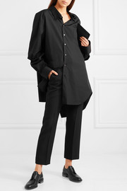 Oversized deconstructed cotton-poplin shirt