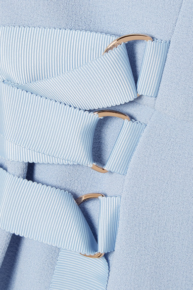 Rebecca Vallance Barra Minikleid aus Crêpe mit asymmetrischer Schulterpartie und Cut-outs