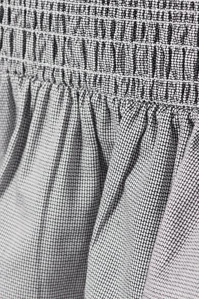Rebecca Vallance Luella Minikleid aus geraffter Baumwolle