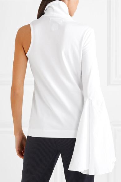Facetasm Oberteil aus Baumwoll-Jersey mit asymmetrischer Schulterpartie