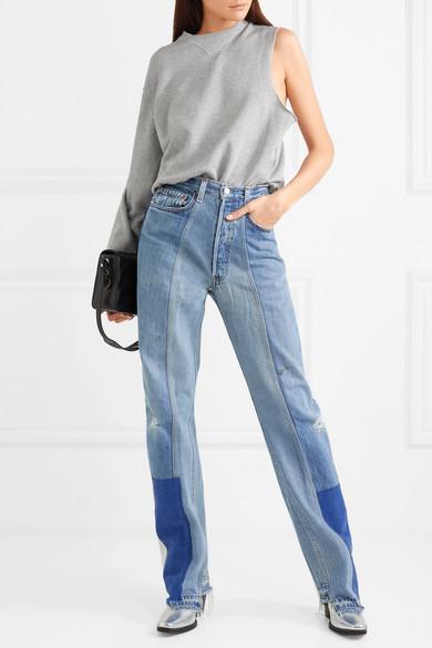 Facetasm Sweatshirt aus Baumwoll-Jersey mit asymmetrischer Schulterpartie