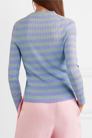 Acne Studios Rutmar gestreifter Pullover aus einer gerippten Baumwollmischung