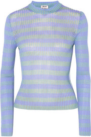 Rutmar striped ribbed cotton-blend sweater