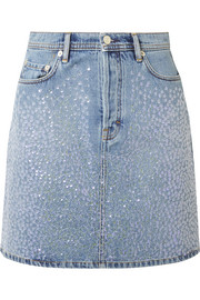Sharmayne sequined denim mini skirt
