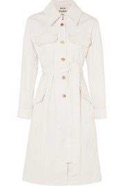 Olesia cotton-blend twill trench coat