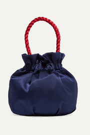 STAUD Grace two-tone satin tote