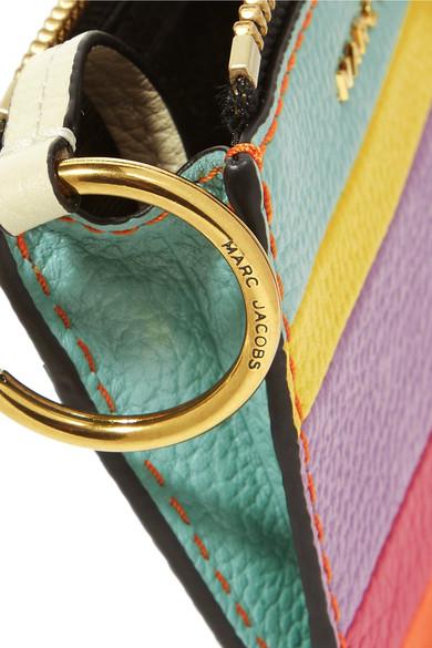 Marc Jacobs Gestreiftes Portemonnaie aus Leder