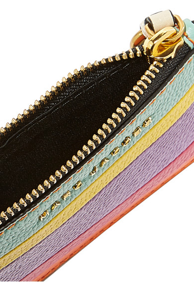 Striped Leather Wallet by Marc Jacobs