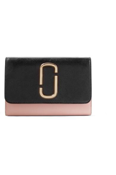 Marc Jacobs Snapshot zweifarbige Schultertasche aus strukturiertem Leder