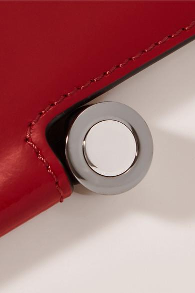 Marni Box Schultertasche aus Lackleder