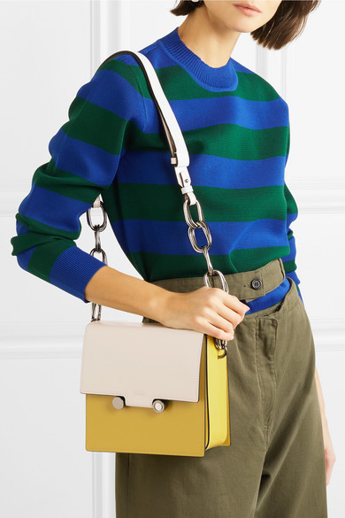 Marni Box Schultertasche aus Leder