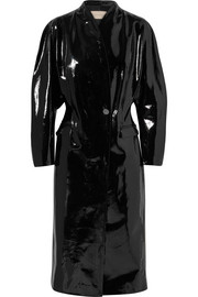 Christopher Kane Crinkled patent-leather coat