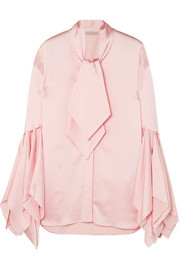 Christopher Kane Pussy-bow satin blouse