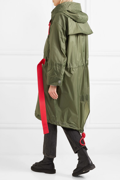 Burberry Oversized-Mantel aus Shell mit Kapuze