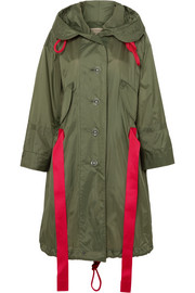 Burberry Oversized hooded shell coat