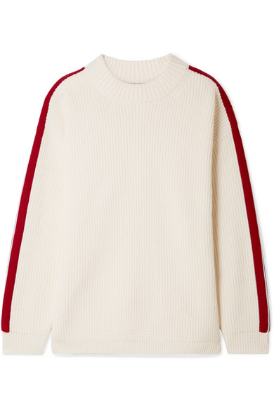 Burberry Iowa Oversized-Pullover aus einer Woll-Kaschmirmischung mit Streifen