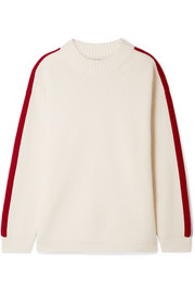 Burberry Iowa oversized striped wool and cashmere-blend sweater