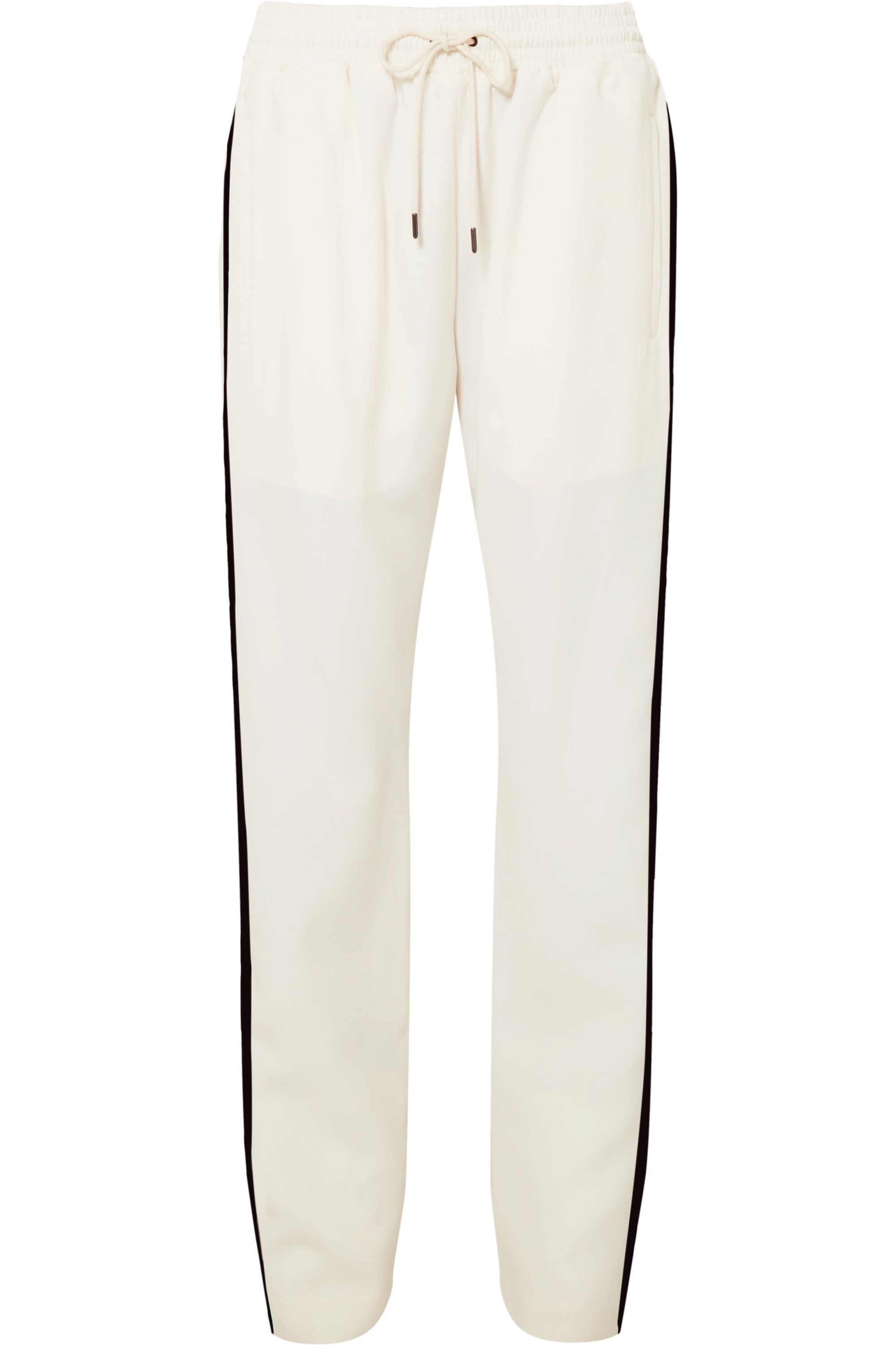 Burberry Striped silk and wool-blend track pants