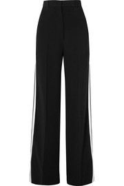 Burberry Striped crepe wide-leg pants