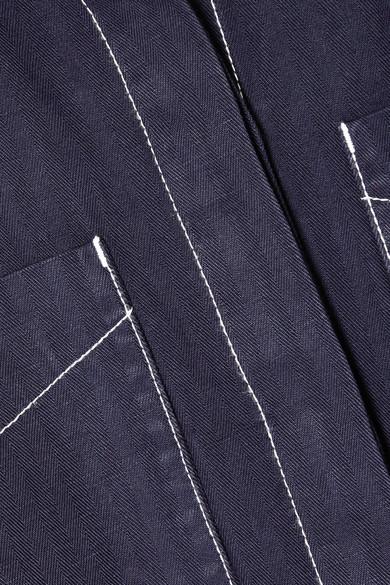 Burberry Jumpsuit aus einer Baumwoll-Leinenmischung mit Gürtel