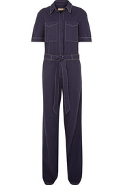 Burberry Belted cotton and linen-blend jumpsuit
