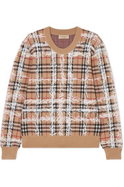Burberry Printed checked merino wool sweater